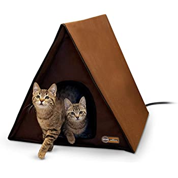 K&H PET PRODUCTS Outdoor Multi-Kitty A-Frame Chocolate