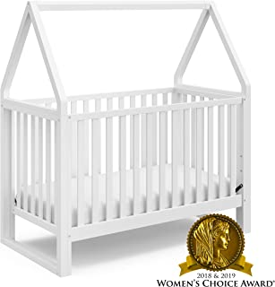 Storkcraft Orchard 5-in-1 Convertible Crib (White) - Easily Converts to Toddler Bed, Daybed, Full-Size Bed, and Playhouse, Detachable Canopy, 3-Position Adjustable Mattress Support Base