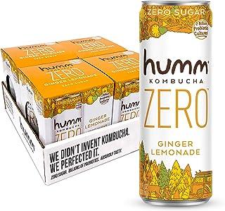 Humm Kombucha Zero Sugar Ginger Ale Lemonade - Live, Raw Kombucha - No Refrigeration Needed - Vegan, Gluten-Free - Ginger ...