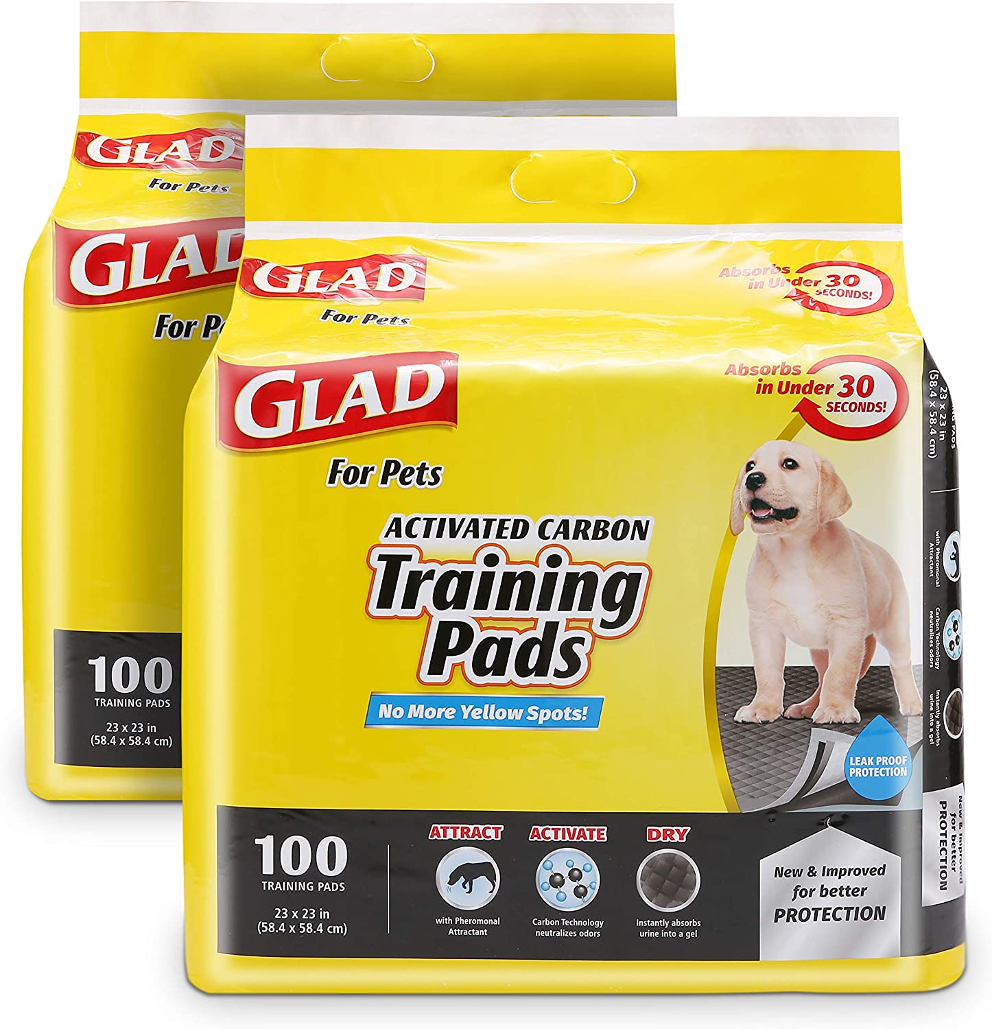 Sale Special Price Glad for Pets Black Charcoal Pot 35% OFF Puppy Improved Pads-New