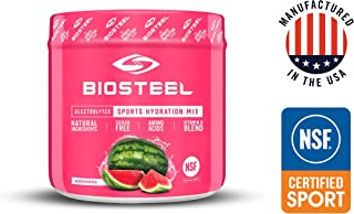 BioSteel High Performance Sports Drink Powder, Naturally Sweetened with Stevia, Watermelon, 140 Gram