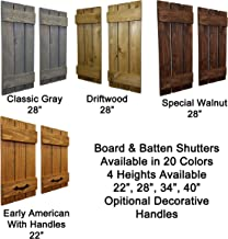 Countryside Rustic Pair of Decorative Board and Batten Shutters Available in 20 Colors - Choose from 4 sizes 40