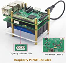 SunFounder Raspberry Pi 4000mAh 5V/2A Lithium Battery Power Pack Expansion Board-Plus Power Module for Raspberry Pi 3,2 Model B and 1 Model B+, Battery Charger Not Included
