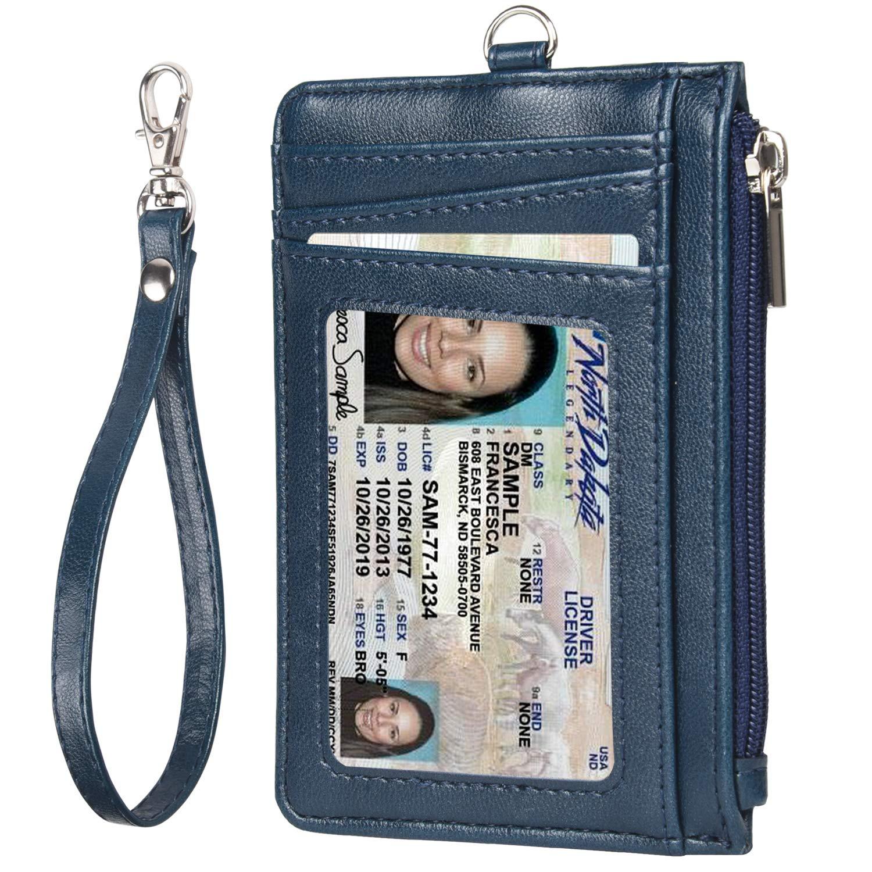 クレジットカードケース 高級PUレザー カード入れ 薄型 カードケース RFIDスキミング防止 クレジットカード入れ 小銭入れ付き ストラップ付き カードホルダー 大容量 男女兼用