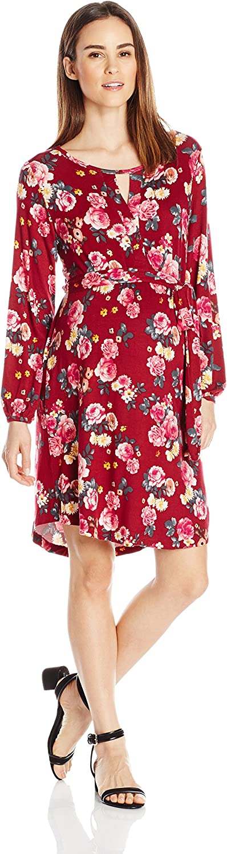Everly Grey Womens Maternity Lonni and Nursing Gathered Cut Out Dress Maternity Dress