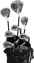 Pinemeadow Golf Men's Nitrix Pro Set Driver, 3 Wood, Hybrid, 6/7-PW Irons, Putter Bag (Graphite/Steel, Regular)