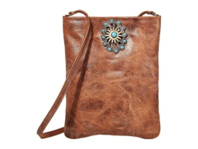 Leatherock Paula Cell Pouch (Cognac) Cross Body Handbags