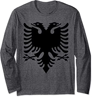 Albanian Flag Double Eagle Red Albania Shqipe Kosovo Long Sleeve T-Shirt