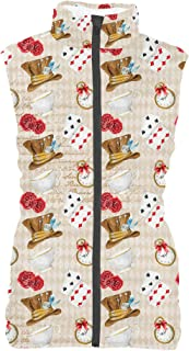 Rainbow Rules Mad Hatter Tea Party Womens Puffer Vest Bodywarmer Gilet