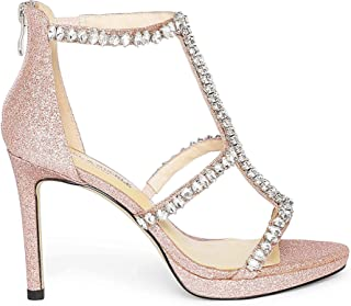 Heel & Buckle London Women's Shimmery Rosegold Sandals