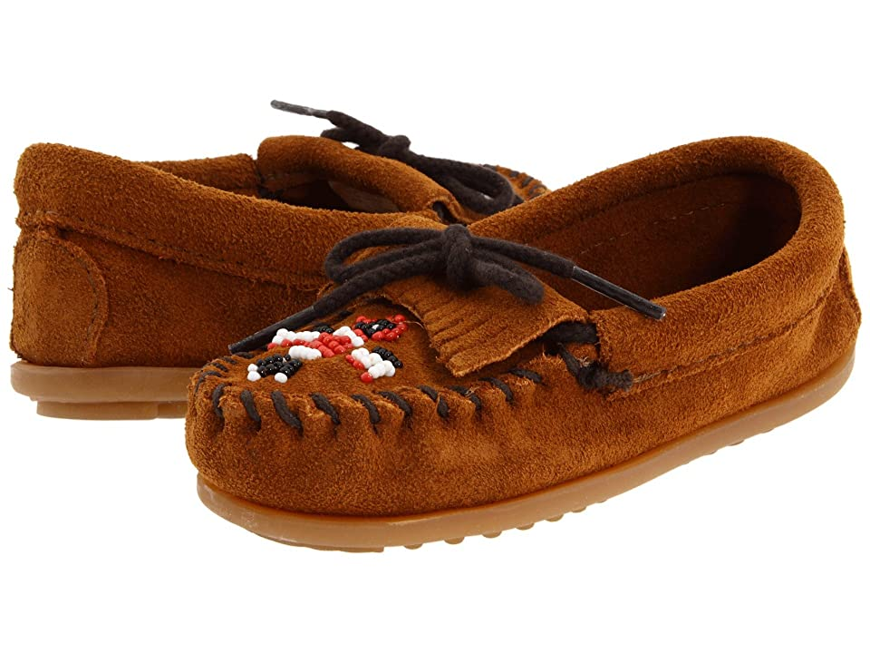 Minnetonka Kids Thunderbird II (Toddler/Little Kid) (Brown Suede) Girls Shoes