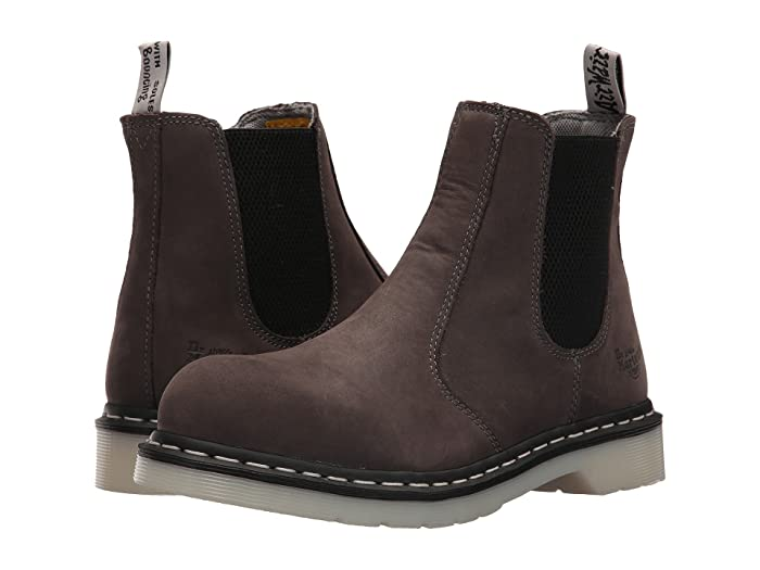 Dr. Martens Work  Arbor Steel Toe Chelsea Boot (Grey) Womens Pull-on Boots