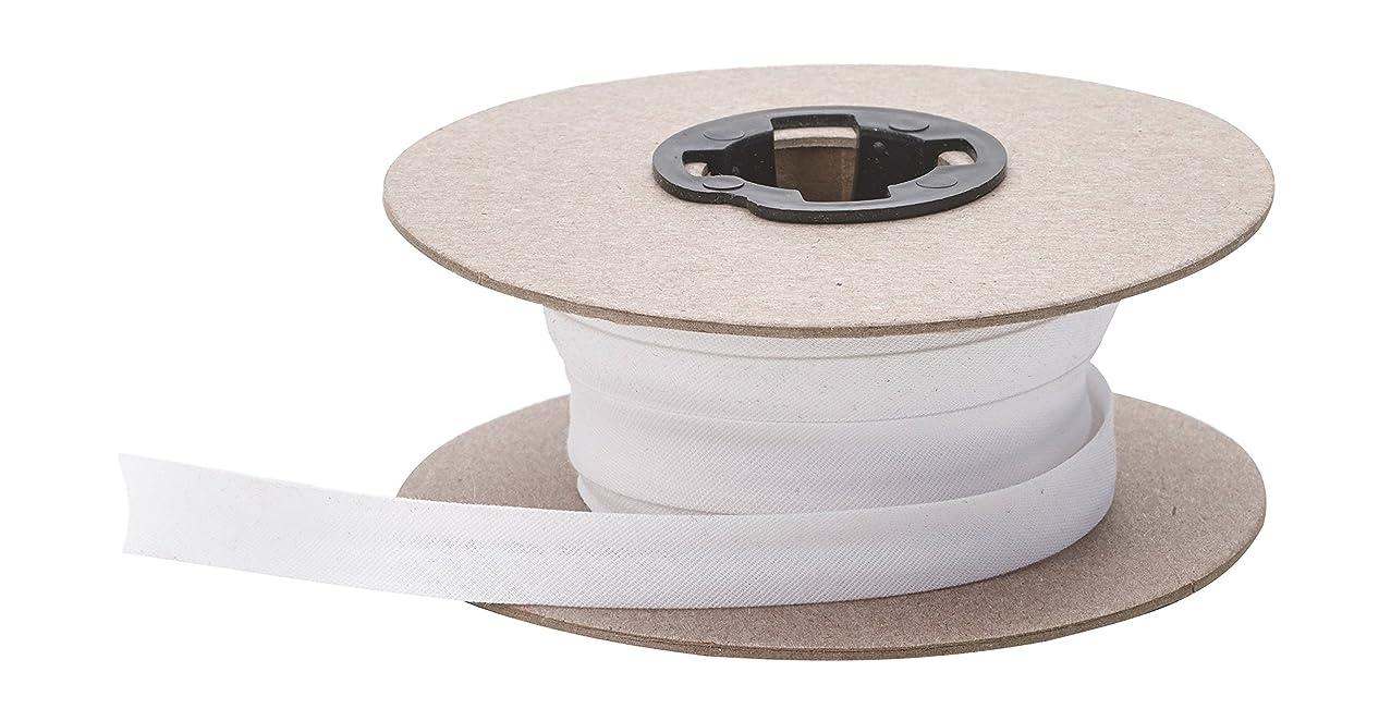 Pearl Double Fold Bias, 15 yd, White
