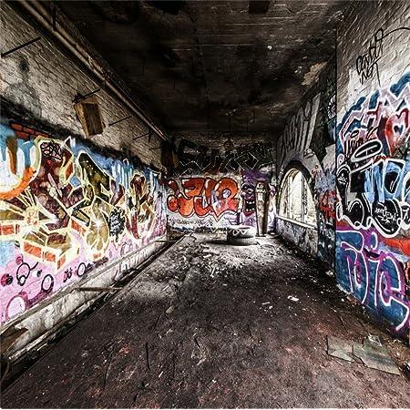 Fly Graffiti Wall Backdrop Hip Hop Photography Backdrops Colored Brick Backdrops 5x7ft