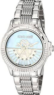 Roberto Cavalli Women's RC-23 Quartz Watch with Stainless Steel Strap, Silver/Rose Gold, 18 (Model: RV2L014M0066)