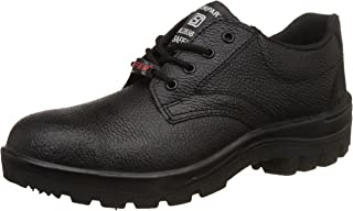 Aktion Safety Genuine Leather Shoes SA-115 - Size 9, Black