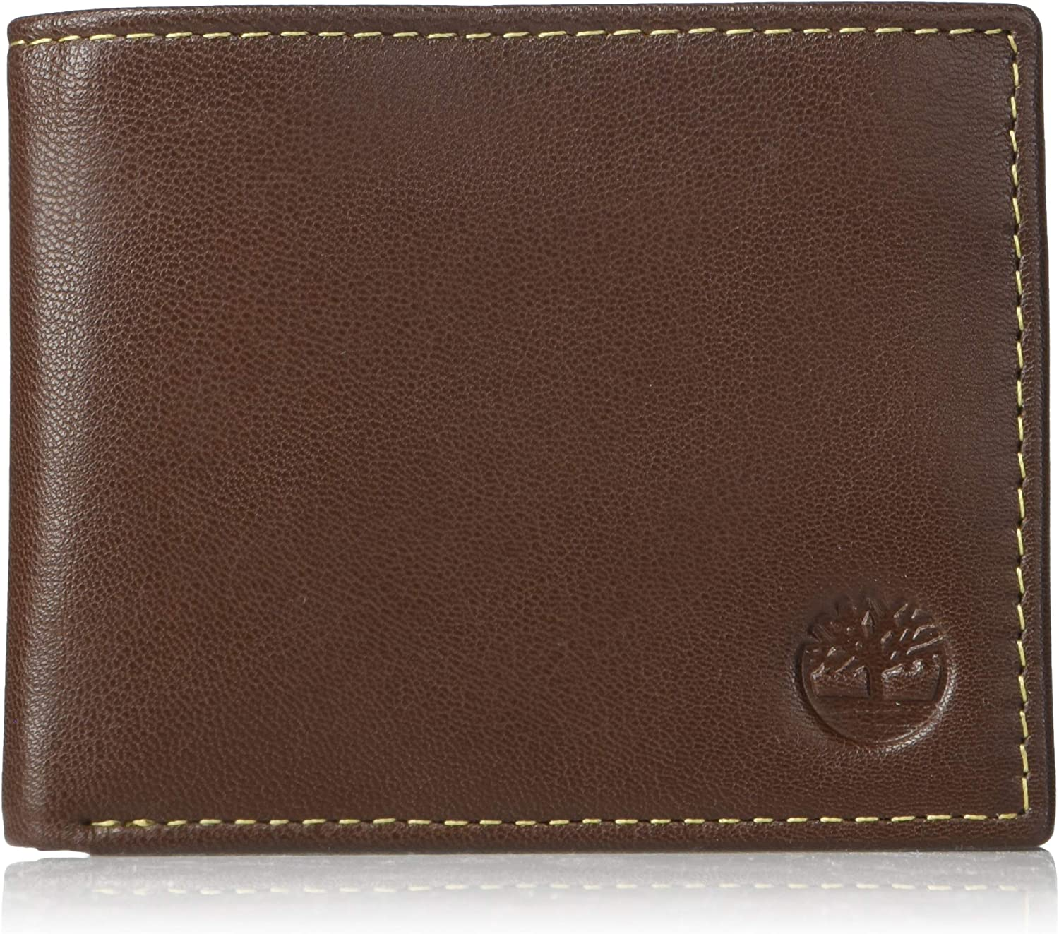 Timberland Men's Leather Passcase Wallet Brown
