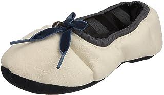 Tommy Hilfiger Women's Down Wool Slipper, Rice, Medium