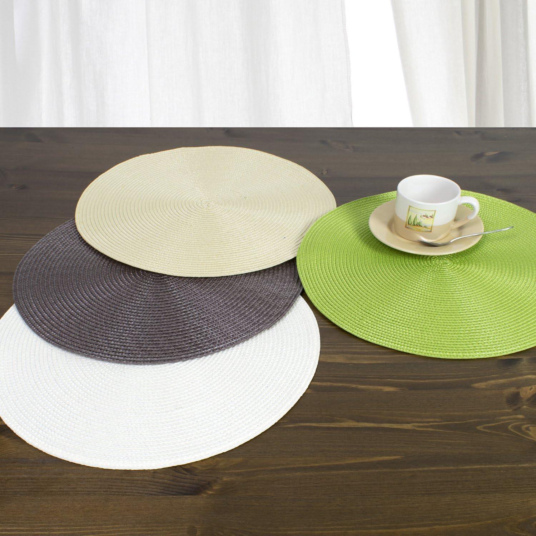 diferentes tama/ños y colores Blanco /Ø 38 cm fibra sint/ética lavables 4 unidades serie MARRAKESCH Manteles individuales