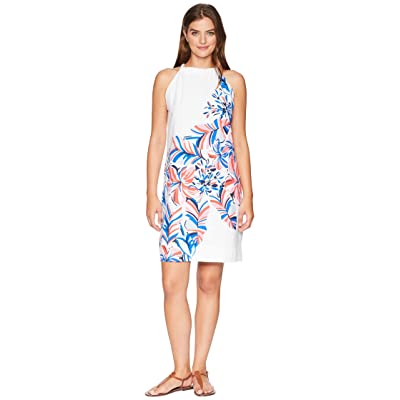 Tommy Bahama Le Tigre Floral Halter Dress (White) Women
