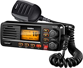 Uniden UM380 25 Watt Fixed Mount Marine VHF Radio, Class D, DSC, Waterproof Level IPX4/JIS4, S,A,M,E, Emergency/ NOAA Weather Alert (New replacement model, Replaced by Uniden UM385BK)