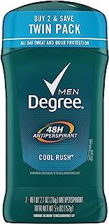 Degree Men Original Antiperspirant Deodorant 48-Hour Odor Protection Cool Rush Mens Deodorant Stick 2.7 oz, 2 Count