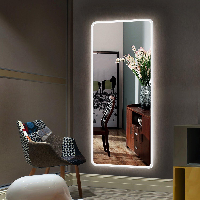 H-A Large 好評 Full Length Floor Mirror Mirro Dressing 40%OFFの激安セール Standing Free