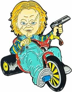 Chucky Doll Big Wheel Cult of Chucky Horror Movie Enamel Pin
