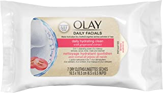 Olay Daily Facial Hydrating Cleansing Cloths Makeup Remover with Grapeseed Extract, 7 Count