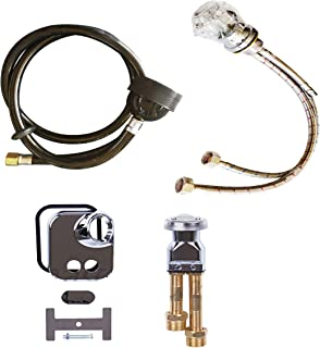 Shampoo Bowl Crystal Faucet, Spray Hose and Vacuum Breaker Kit for New or Replacement Repair Shampoo Bowl Parts and Fixtures by eMarkBeauty TLC-1161-77SH