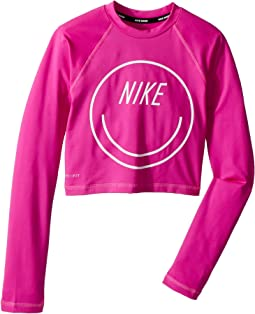 Nike Kids - Long Sleeve Crop Hydroguard (Big Kids)