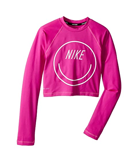 1eea9661 Nike Kids Long Sleeve Crop Hydroguard (Big Kids) at 6pm
