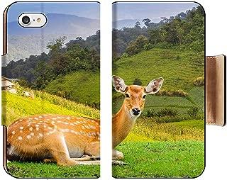 Luxlady Premium Apple iPhone 8 Flip Pu Wallet Case ID: 40057403 Chital Deer Spotted Deer Axis Deer
