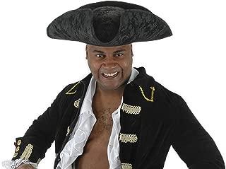 Black Corsair Pirate Captain Hat for Men and Women