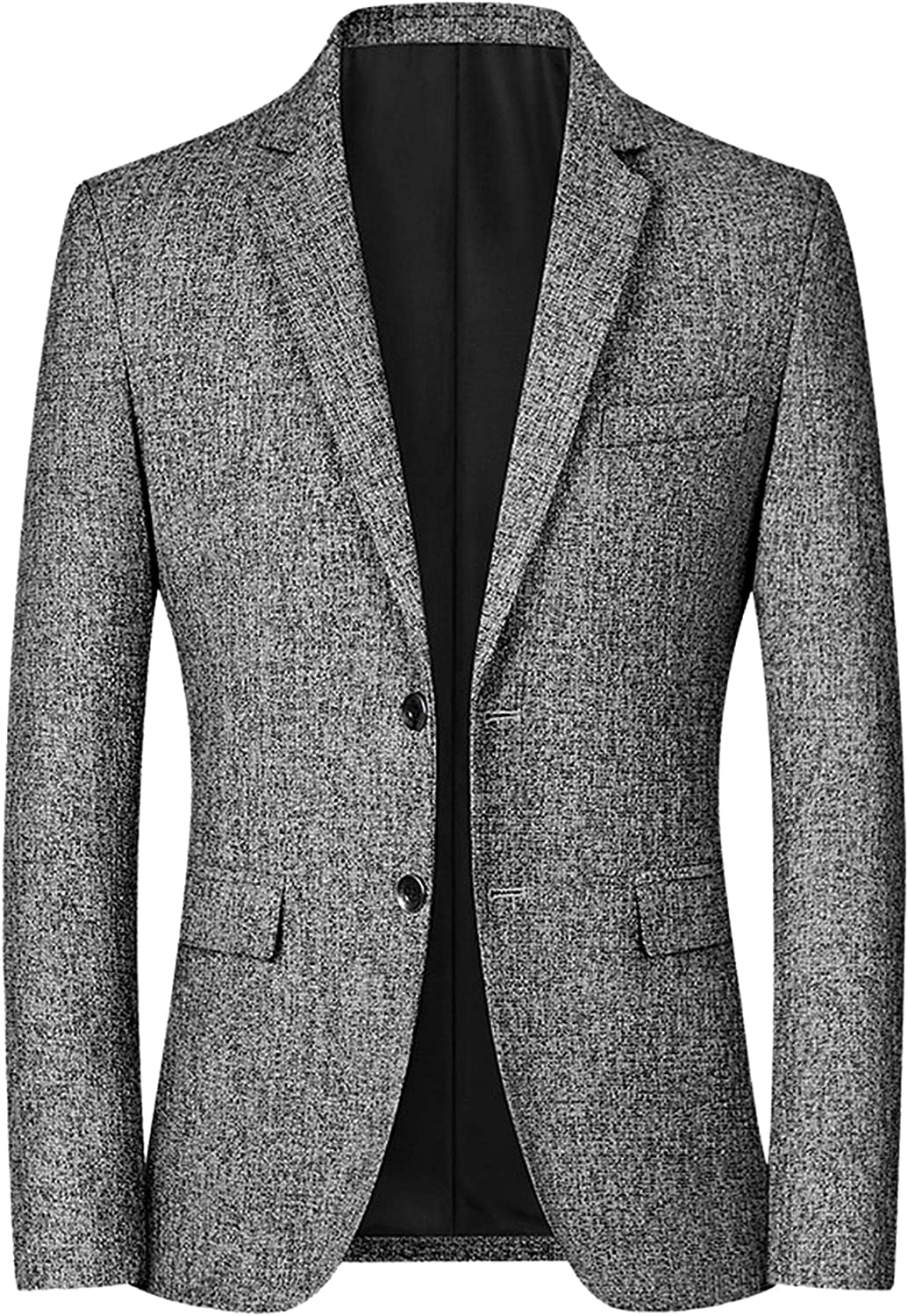 Lars Amadeus Men's Business Blazer Single Breasted Two Buttons Formal Suit Sports Coat