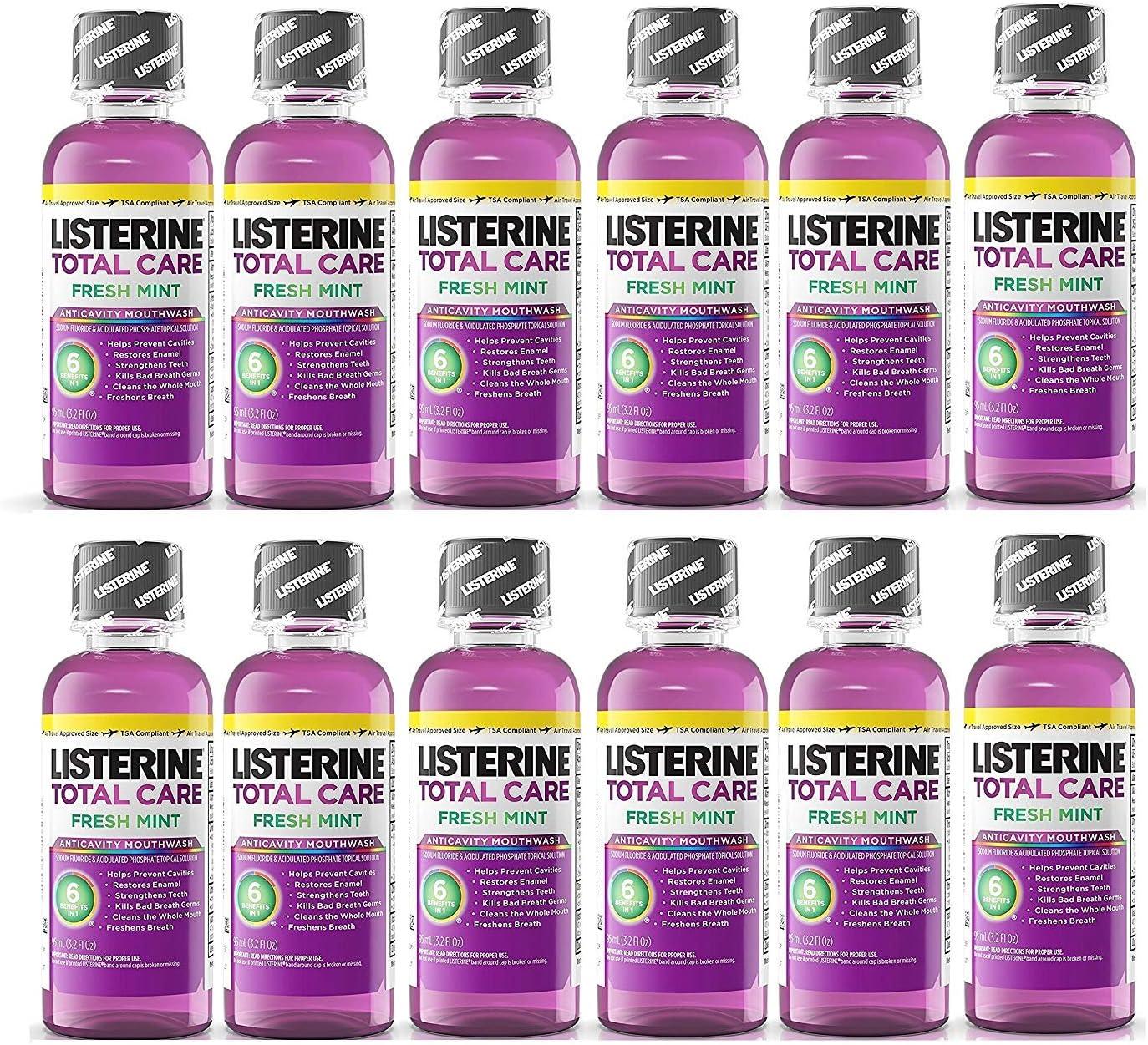 Listerine Total Care Fresh Lowest price challenge Mint Manufacturer OFFicial shop Siz Mouthwash Antiseptic Travel