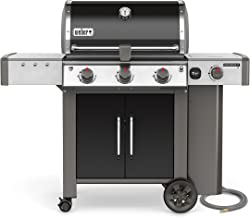 Weber 61014001 Genesis II LX E-340 Liquid Propane Grill, Black, Three-Burner