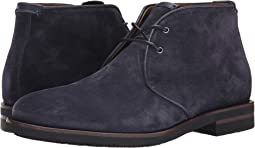 Navy Oiled Waxy Suede