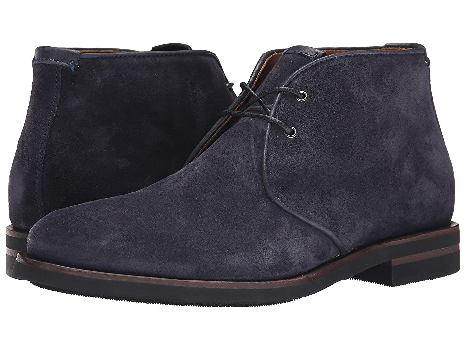 Aquatalia Carlos (Navy Oiled Waxy Suede) Men