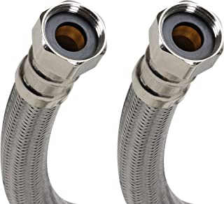 Fluidmaster B1H24 Stainless Steel Water Heater Connectors - 3/4