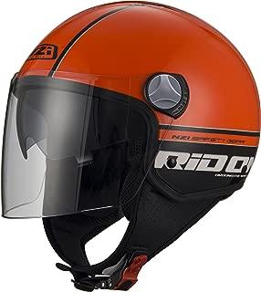 XXL Naranja Blanco y Negro Talla 62-63 NZI 010256G623 Citycenter Style Orange Casco de Moto