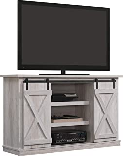 Pamari Sliding Barn Door TV Stand, Sargent Oak