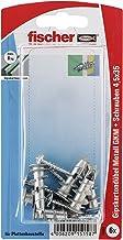 fischer 015158 gipspartonplug metaal SK SB-kaart, inhoud gipsparton-/gipsvezelplaatpluggen GKM, 6 x spaanplaatschroef 4,5 ...