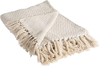 DII Modern Zig-Zag Woven Throw, 50x60, Natural