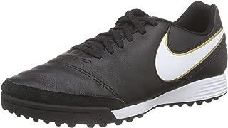 Tiempo Genio Leather TF Men's Black/White-Metallic Gold Shoes