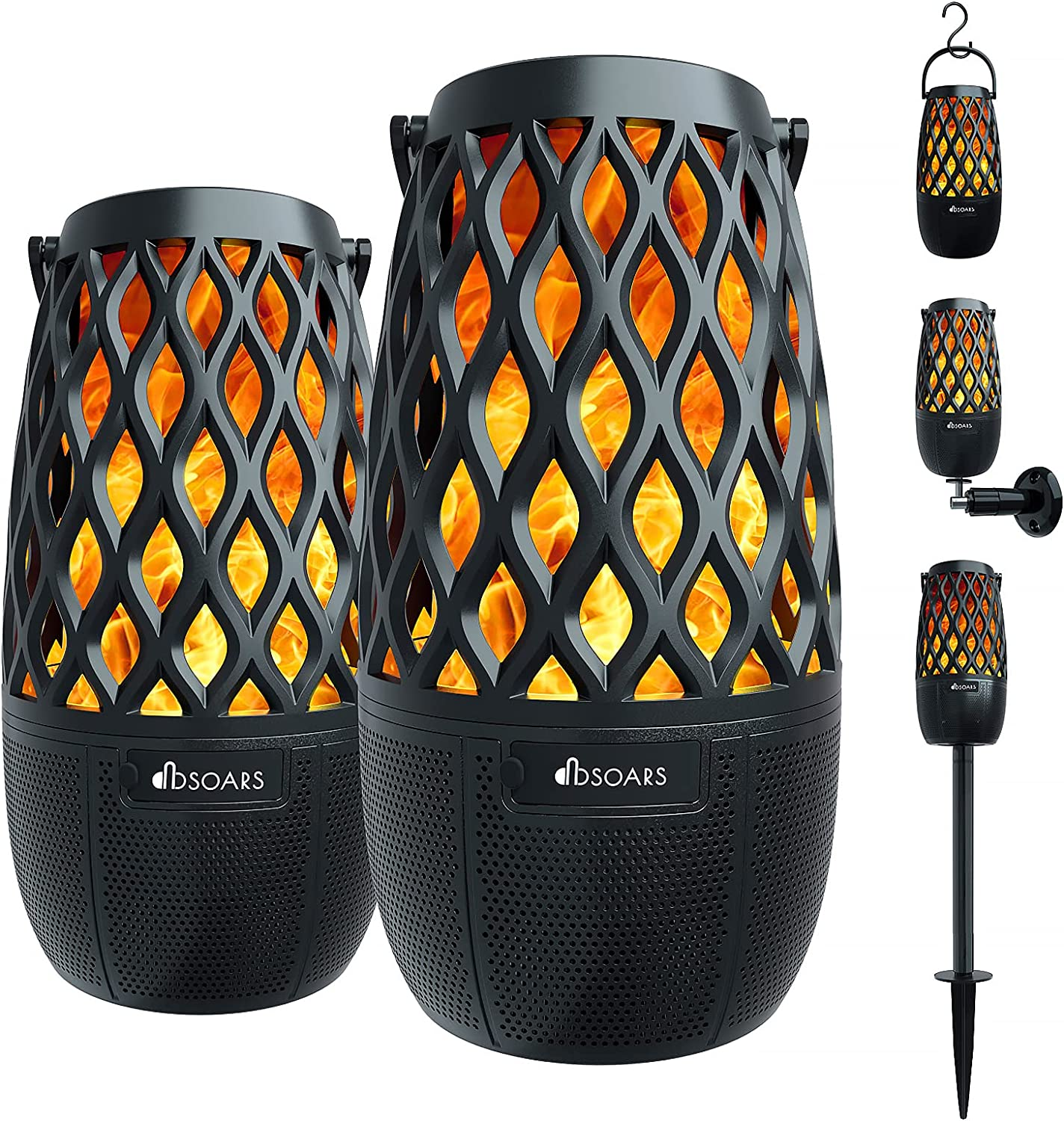DBSOARS Torch Light Bluetooth Speaker, Outdoor/Indoor LED Flame Atmosphere
