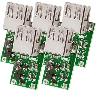AZDelivery 5 x Convertidor DC-DC 3V a 5V Salida USB 600mA Módulo de alimentación para Arduino con eBook incluido