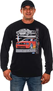 JH DESIGN GROUP Men's Ford Mustang GT Black Long Sleeve T-Shirt