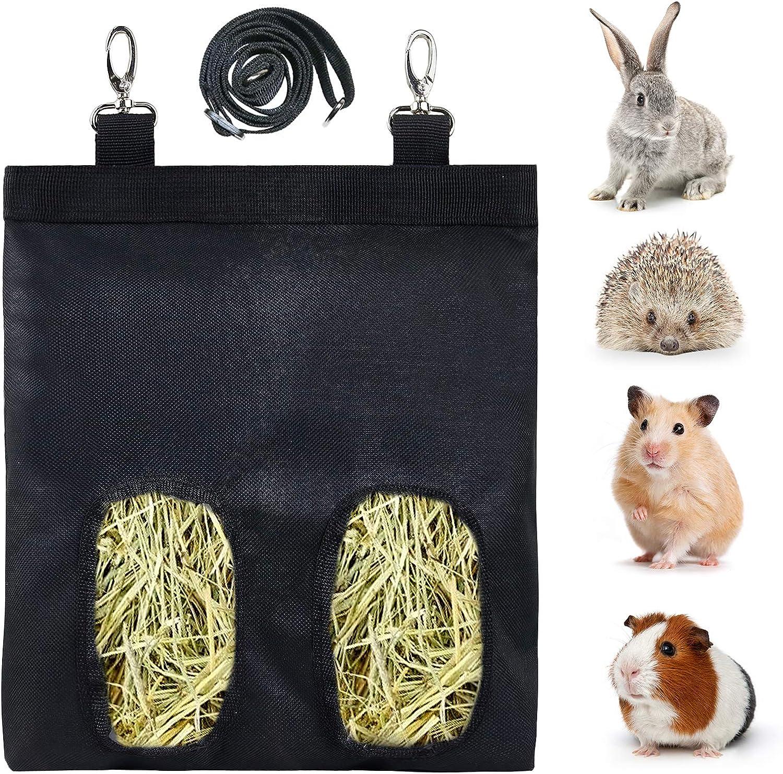 Ranking TOP11 Rabbit Hay Feeder Bag Guinea Pig Max 69% OFF Sac Storage Feeding Hanging