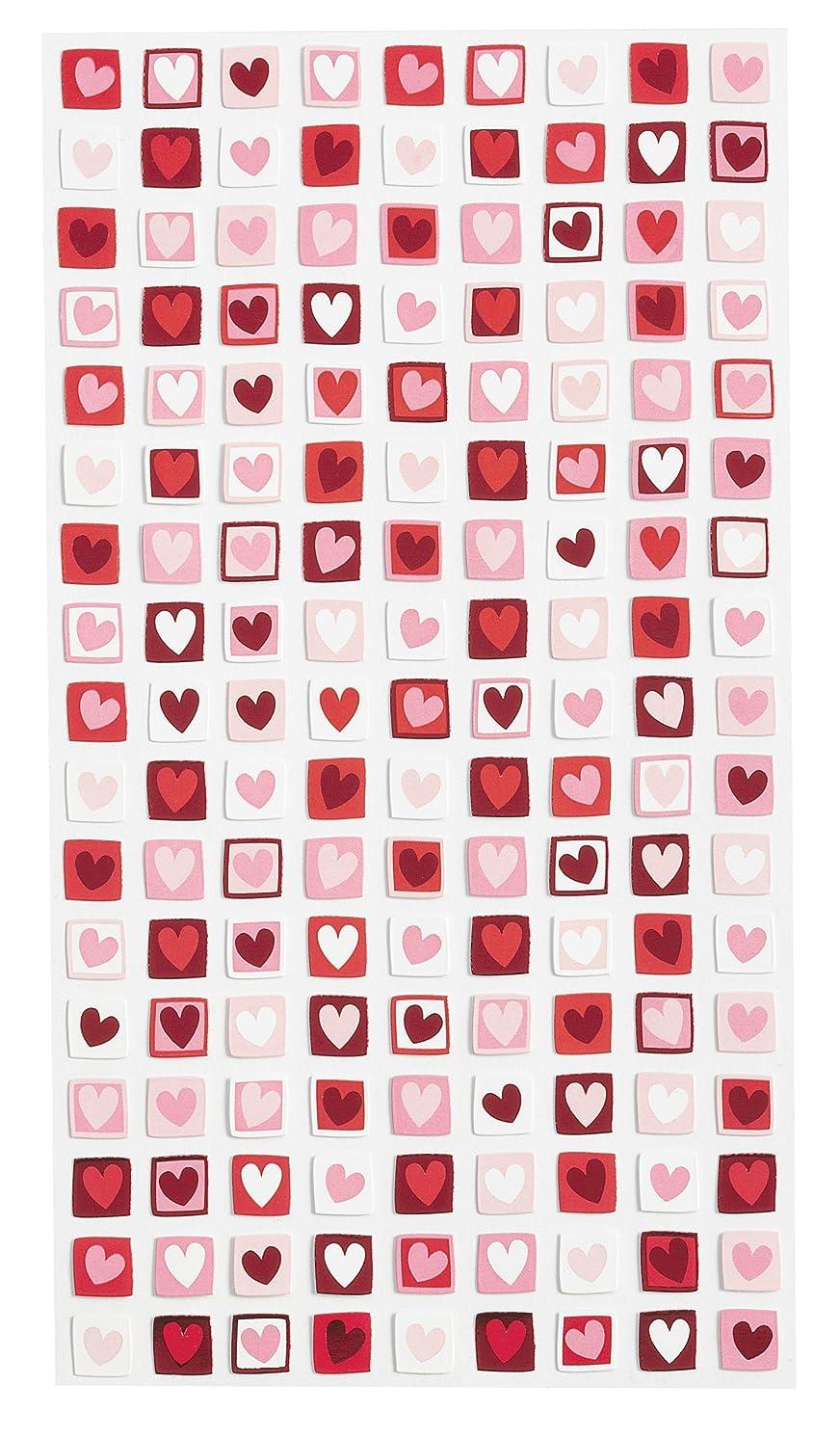Sticko EK Success Valentine Mini Stamps Metallic Stickers